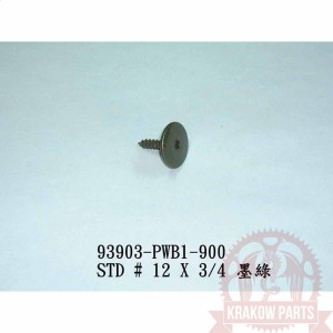 SCREW BODY-SELF TAP #12X3/4 A 93903-PWB1-900 Kymco MXU 400, Maxxer 400, oryginał