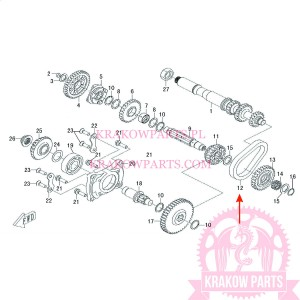 CHAIN, REVERSE GEAR OF ATV500-D EFI T3b Linhai original 35313