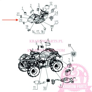 START RELAY (NEW) (CONTROL HIGH BEAM AND DIPPED BEAM) ATV300-D EFI T3b Linhai оригинал 35656