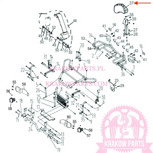 BACKREST Of ATV300-D EFI T3b Linhai original 35721